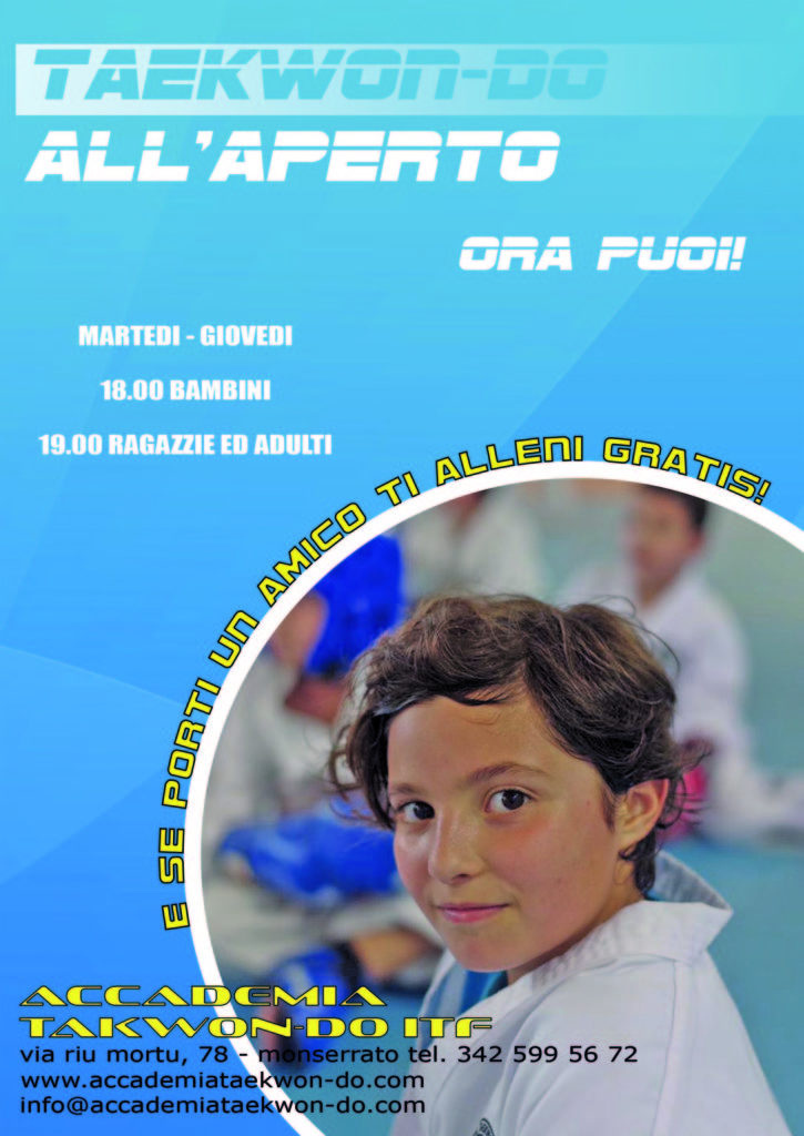 accademia taekwon-do itf monserrato estate 2017